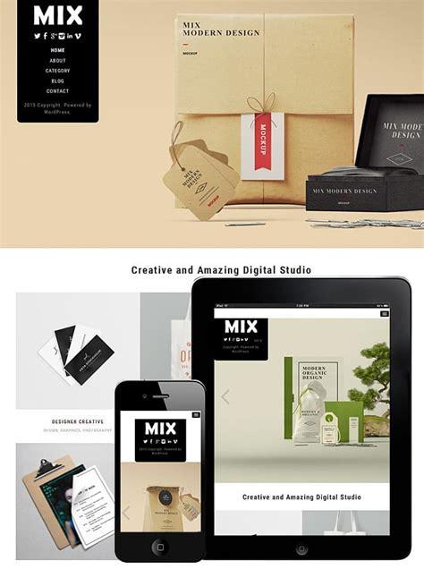 Wordpress Themes Mix | mix wordpress theme best wordpress themes for creatives