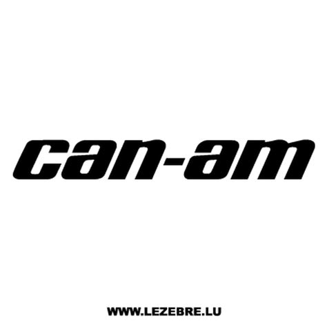 Can Am Stickers can am logo decal