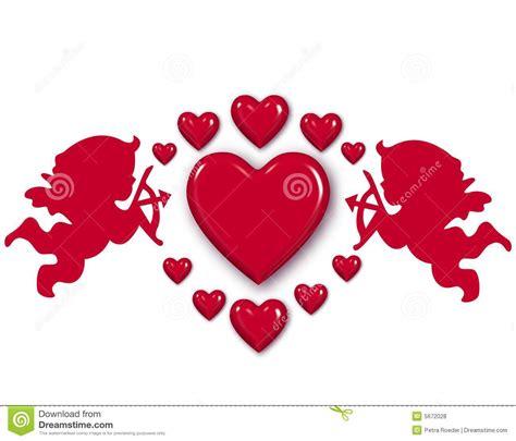 imagenes de corazones flechados por cupido cupid and hearts stock illustration illustration of
