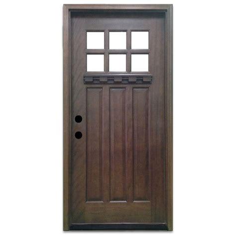 Steves Sons 32 In X 80 In Craftsman 6 Lite Stained 32 X 78 Exterior Door