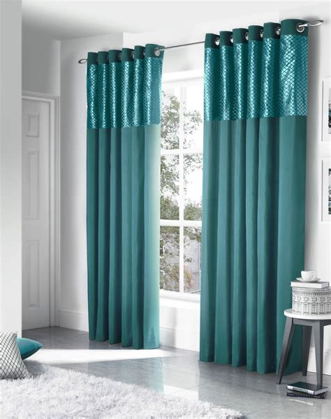 teal silk curtains faux silk cut velvet teal lined ring top curtains drapes