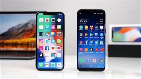 apple x vs samsung s8 apple iphone x vs samsung galaxy s8 deutsch swagtab