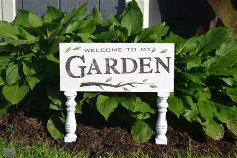 Garden Signs by Homeroad How To Make Rustic Signs For The Garden
