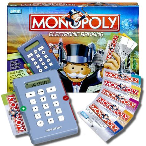 monopoly bank card monopoly electronic banking edition the green