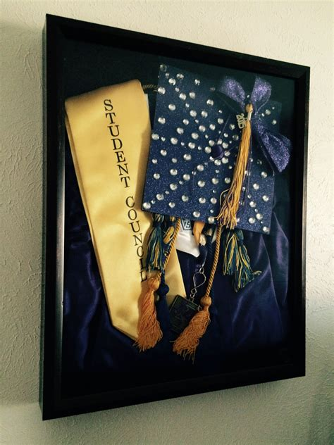 boxes ideas school shadow box of high school graduation cap and gown h deco