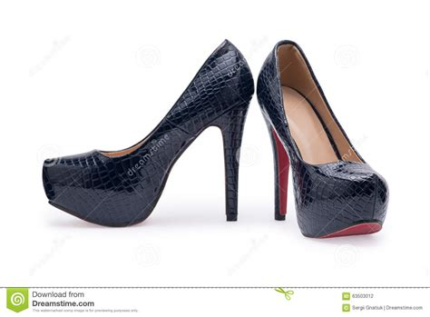 stylish pumps high heels s stylish shoes high heels on white background stock