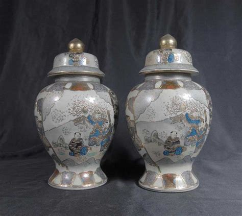 Urns And Vases by Japanese Satsuma Pottery Vases Urns Earthenware