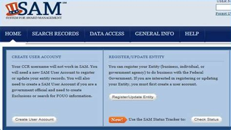 sam gov help desk vendor registration information