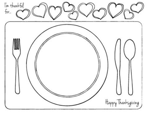 place setting template thanksgiving printable place setting for dabbles