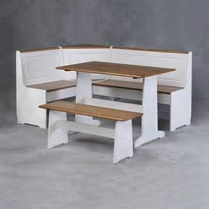 Kitchen Nook Furniture Breakfast Corner Nook Table Set In White K90305wht Ab Kd U