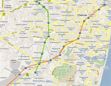 printable chennai road map chennai metro rail map chennaicityconnect com