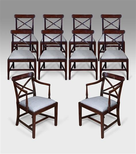 set of 10 antique dining chairs georgian dining chairs
