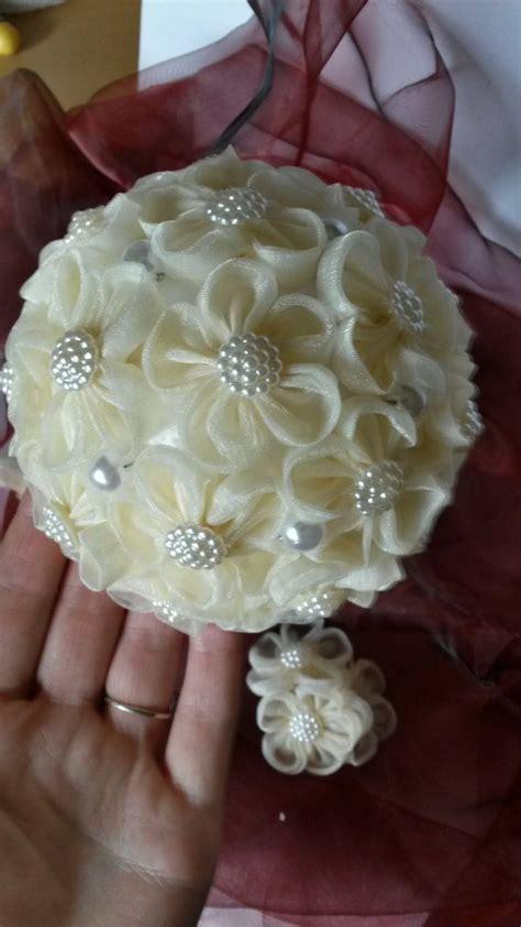 Wedding Bouquet Kanzashi Tutorial by Best 25 Organza Flowers Ideas On Ribbon