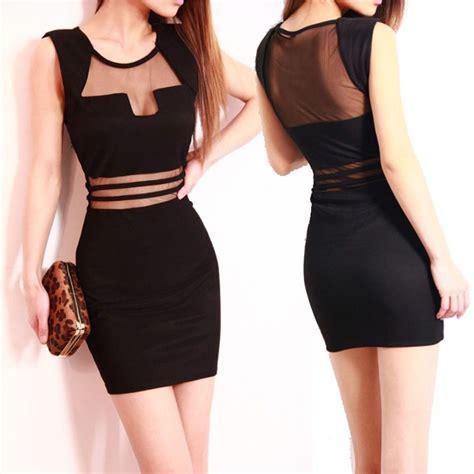 Clubbing Dress fashion black club wear cocktail sleeveless mini dress slim clothes ebay