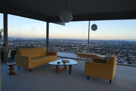 Floor Plan Modern House Stahl House By Pierre Koenig Overlooking Los Angeles 8