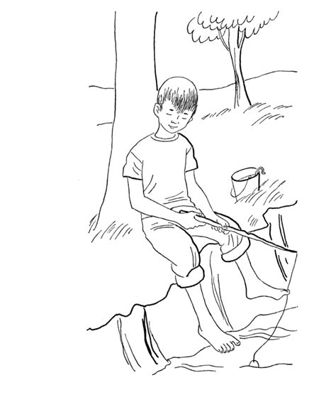 Coloring Page Of Boy Fishing | doll palace coloring pages az coloring pages