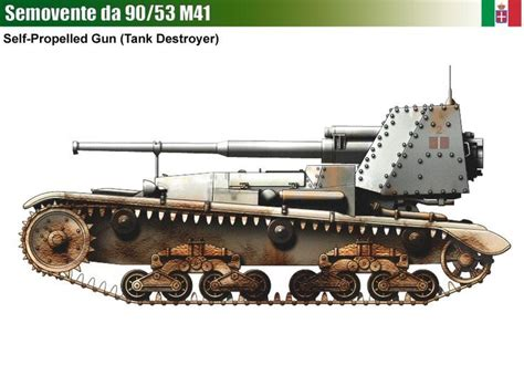 Tas Motor Model T 232 semovente m41 da 90 53 tank destroyer armored ww ii