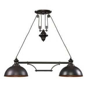 Home Depot Kitchen Island Lighting Titan Lighting Farmhouse 2 Light Bronze Ceiling Mount Island Light Tn 7832 The Home Depot