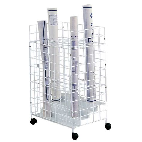 Safco Blueprint Rack by Safco Wire Roll File 24 Compartments 3088
