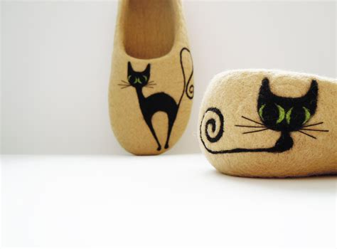 slippers for cats felted s slippers black cat