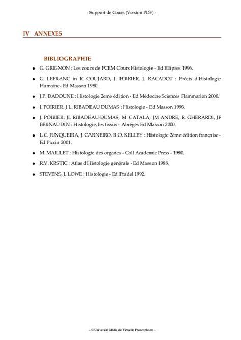 Poly Histologie Et Embryologie Medicales