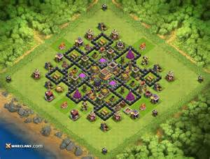 Yshahram th8 clash of clans farming base layout