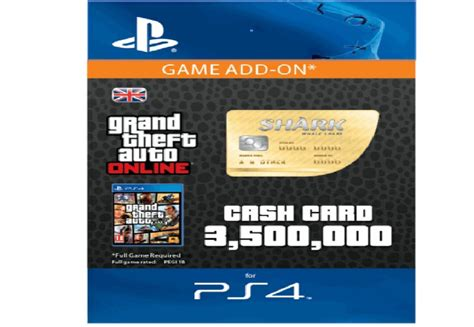 Gift Shark Cards - gta v 5 whale shark cash card 3 500 000 ps4 same day dispatch ebay