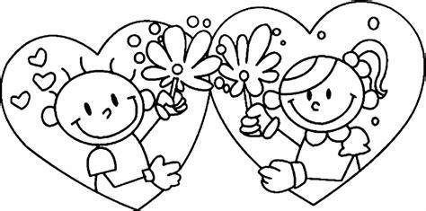 imagenes blanco y negro san valentin dia del amor y la amistad para colorear