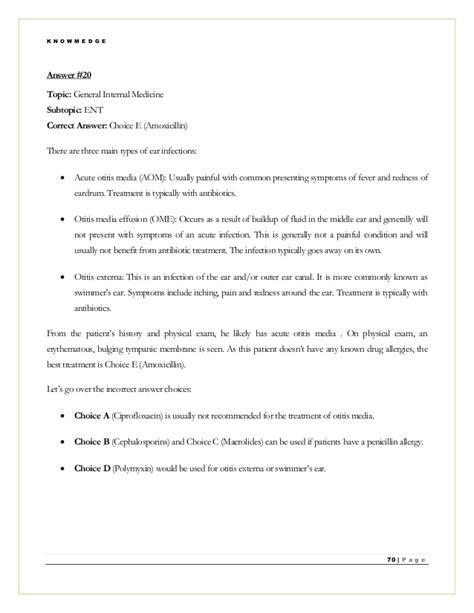 Medicine Shelf Practice Questions by Medicine Practice Questions For Abim Nbme