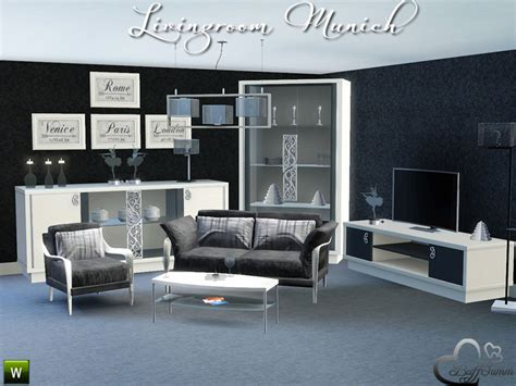 Sims 3 Living Room Sets Buffsumm S Livingroom Munich For Sims 3