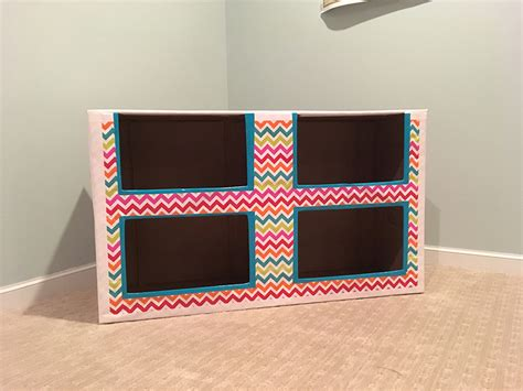 tutorial make a cardboard bookcase hometown betty