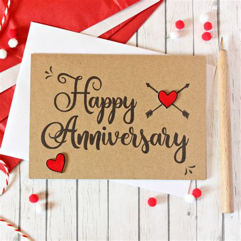 personalised   date anniversary card
