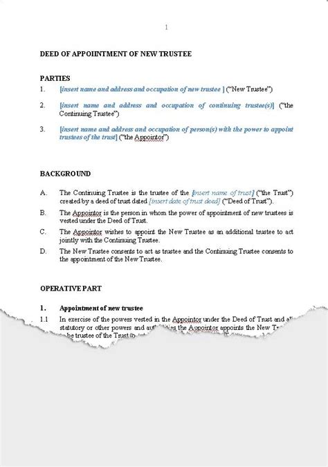 deed of acknowledgement of debt template assignment of mortgage deed of trust distribution