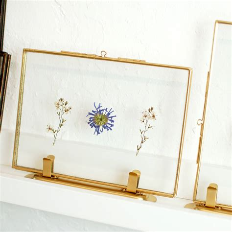 frame design ltd gold brass standing scandi photo picture frame by made
