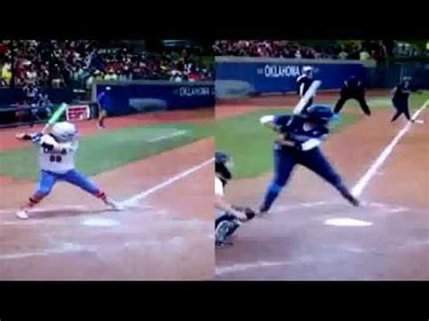 softball swing video wcws women s college world series swing analysis