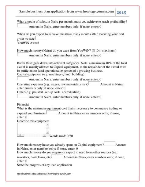 youwin business plan format youwin sle business plan enterpreneur