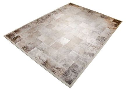 Cowhide Patchwork Rug Gray - gray brindle patchwork cowhide rug in squares shine rugs