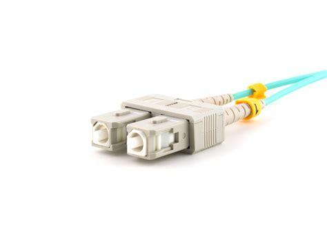 Patch Cord Cat5 35m Izinet 35m multimode duplex fiber optic patch cable 50125 om3 aqua laser opt sc to st computer