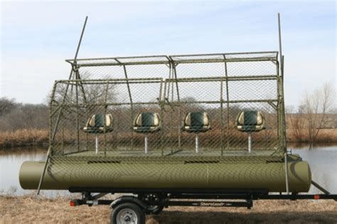 diy turn your pontoon boat into a duck hunting blind - Hunting Pontoon Boat