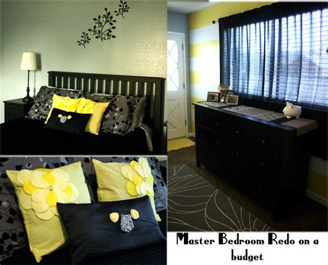 grey yellow and black bedroom home decor thelifeoflulubelle
