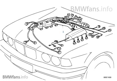 engine wiring harness bmw 5 e39 530d m57 europe