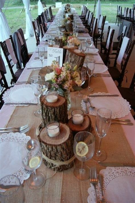 Best 25  Log centerpieces ideas on Pinterest
