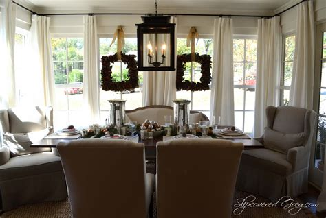 the dining rooms southern living idea house 2012 christmas slipcovered grey
