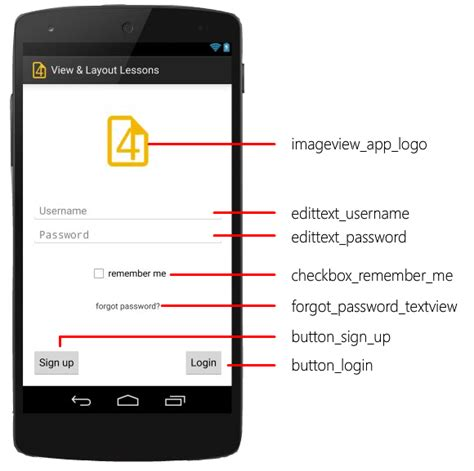layout names android let s create the screen android ui layout and controls