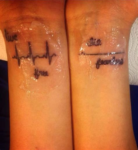 stripper tattoo ekg flat line 2013 andrea electric