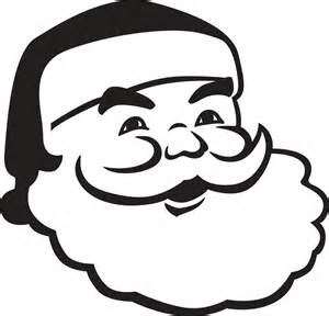 Santa face silhouette santa face svg file by hatchwork on etsy