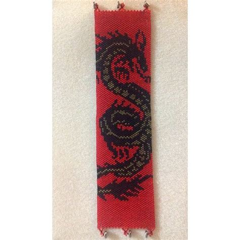 bead loom pattern maker online black dragon loom beading pattern for cuff bracelet sale