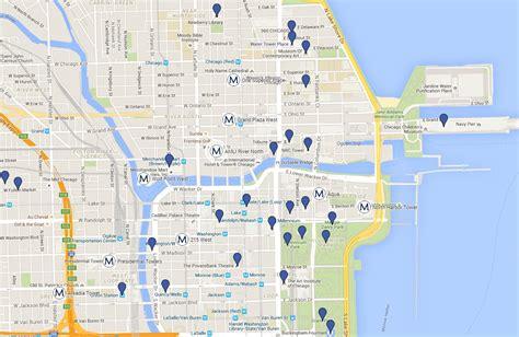 chicago map landmarks map of chicago s landmarks map of