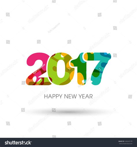 happy new year text vector happy new year 2017 text design stock vector 528245179