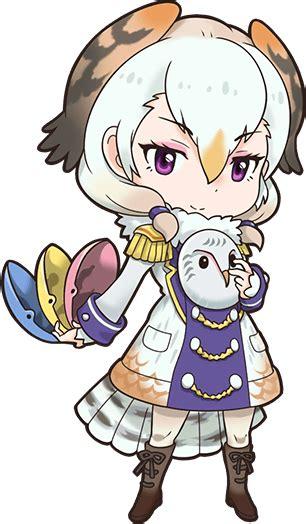 Kaos Anime Seal Black barn owl japari library the kemono friends wiki